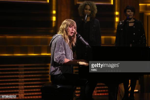 Musical Guest Taylor Swift performs 'New Year's Day' on November 13 2017