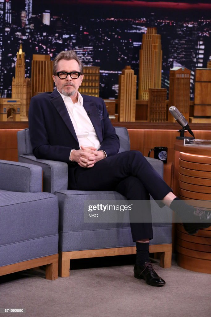 Actor Gary Oldman during an interview on November 15, 2017 --
