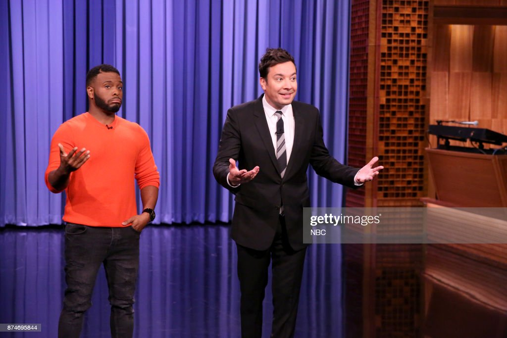 Kel Mitchell with host Jimmy Fallon on November 15, 2017 --