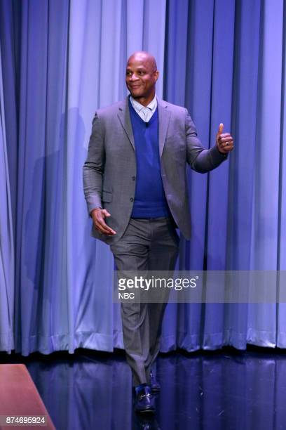 Professional Athlete Darryl Strawberry arrives for an interview on November 15 2017