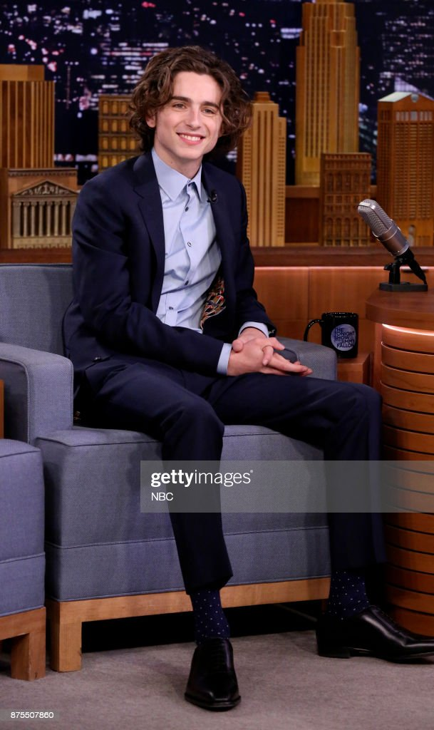 Actor Timothée Chalamet during an interview on November 17, 2017 --