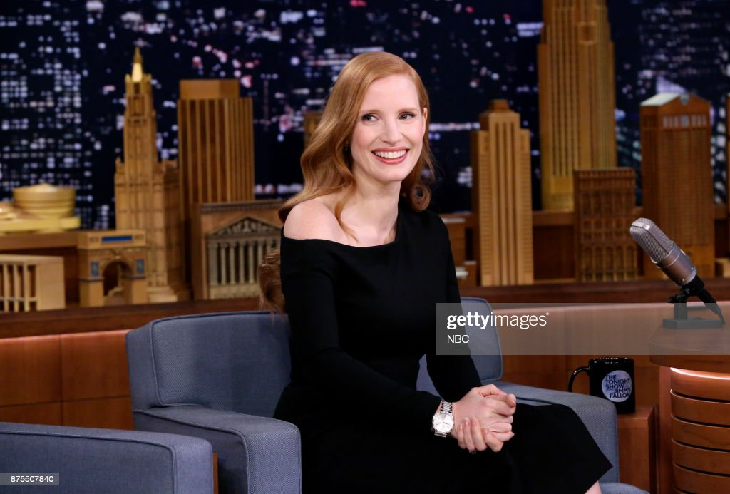 Actress Jessica Chastain during an interview on November 17, 2017 --