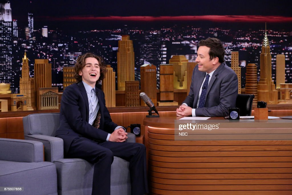 Timothée Chalamet during an interview with host Jimmy Fallon on November 17, 2017 --