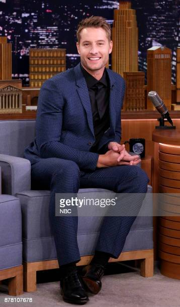 Actor Justin Hartley during an interview on November 21 2017