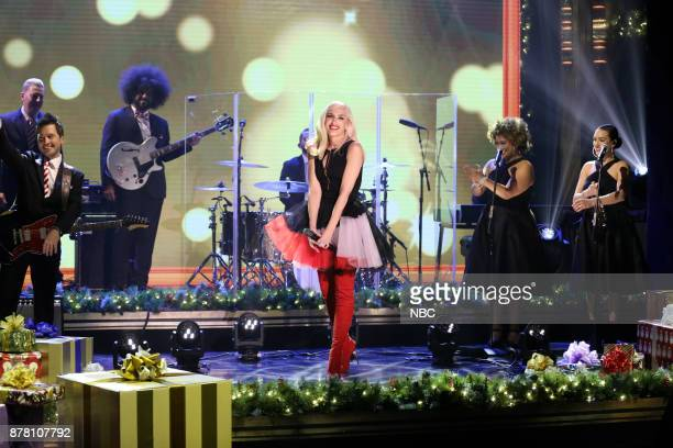 Musical Guest Gwen Stefani performs 'Under the Christmas Lights' on November 21 2017