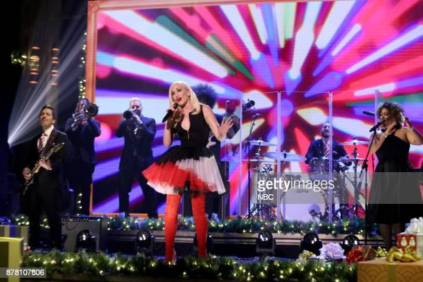 Musical Guest Gwen Stefani performs Under the Christmas Lights on November 21 2017