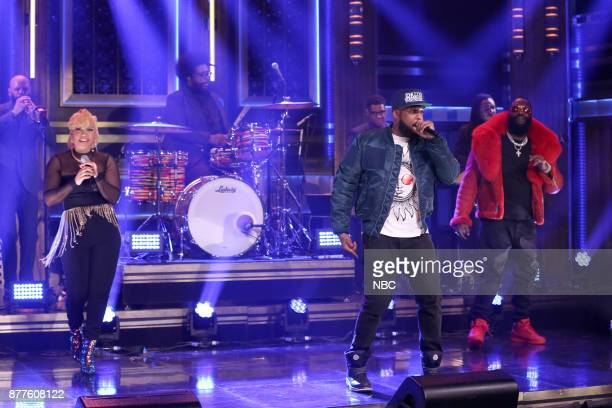 Musical Guest Taleb Kweli performs 'Heads Up Eyes Open' featuring Rick Ross and Yummy Bingham on November 22 2017