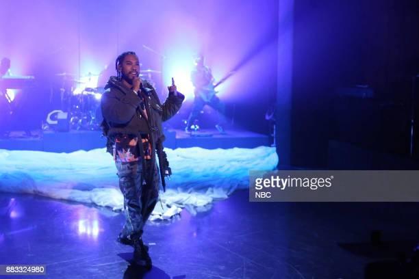 Musical Guest Miguel performs 'Skywalker' on November 30 2017