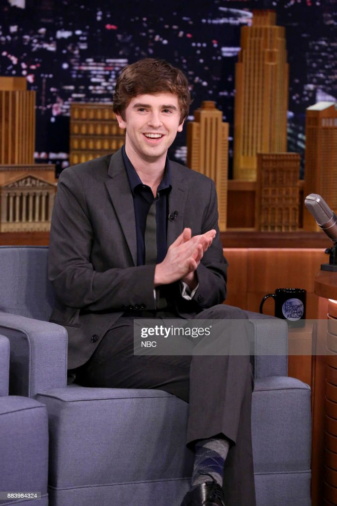 """NBC's """"Tonight Show Starring Jimmy Fallon"""" With guests Queen Latifah, Freddie Highmore, Sam Smith"""