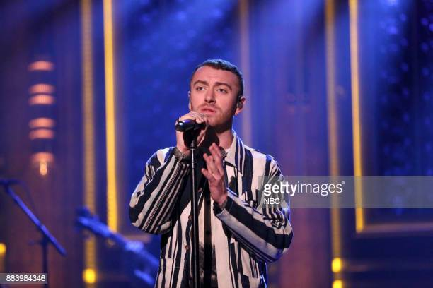 Episode 0781 -- Pictured: Sam Smith performs on December 1, 2017 --
