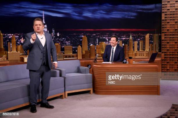 Comedian Patton Oswalt during an interview with host Jimmy Fallon on December 5 2017