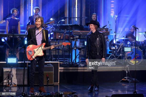 Musical Guest Beck performs 'Up All Night' on December 6 2017
