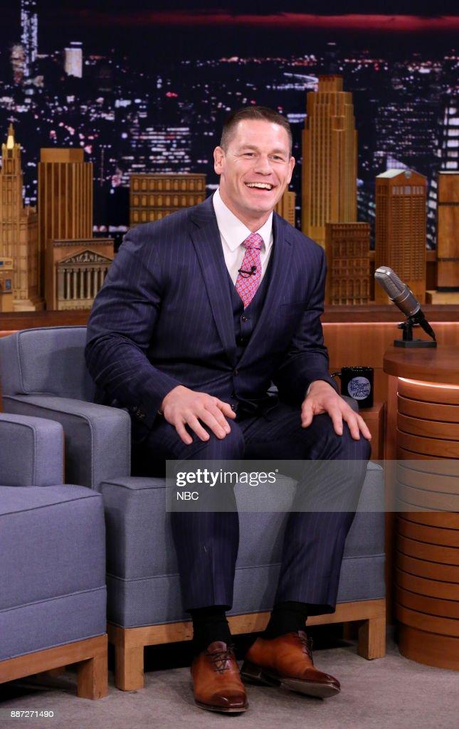 Profession Wrestler John Cena during an interview on December 6, 2017 --