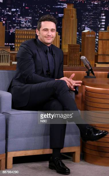 Actor James Franco during an interview on December 7 2017