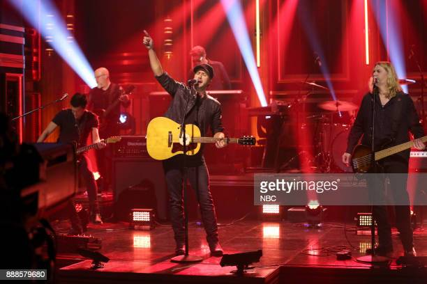 Musical Guest Luke Bryan performs 'What Makes You Country' on December 8 2017