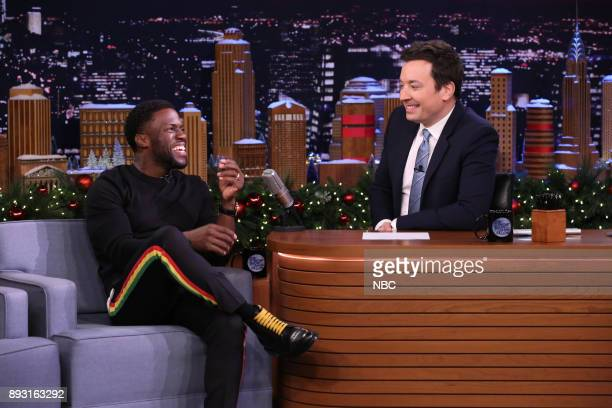 Comedian/Actor Kevin Hart during an interview with host Jimmy Fallon on December 14 2017