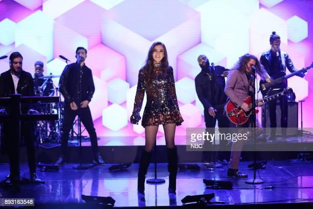 Singer Hailee Steinfeld Alesso ft watt perform 'Let Me Go' on December 14 2017