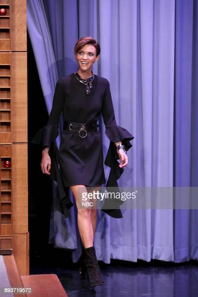 Actress Ruby Rose arrives for an interview on December 15 2017