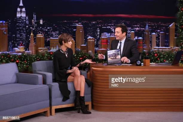 Actress Ruby Rose during an interview with host Jimmy Fallon on December 15 2017