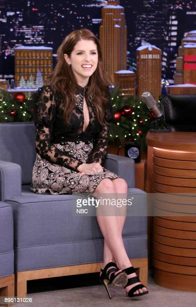 Actress Anna Kendrick during an interview on December 18 2017