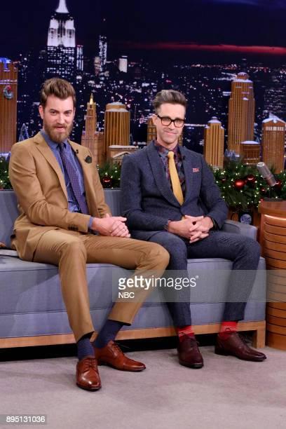 Comedians Rhett Link during an interview on December 18 2017