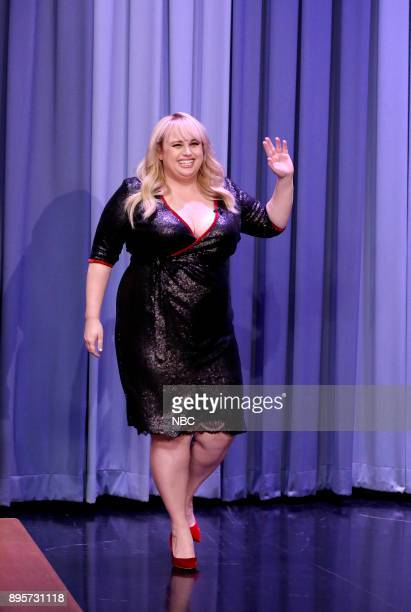 Actress Rebel Wilson arrives for an interview on December 19 2017