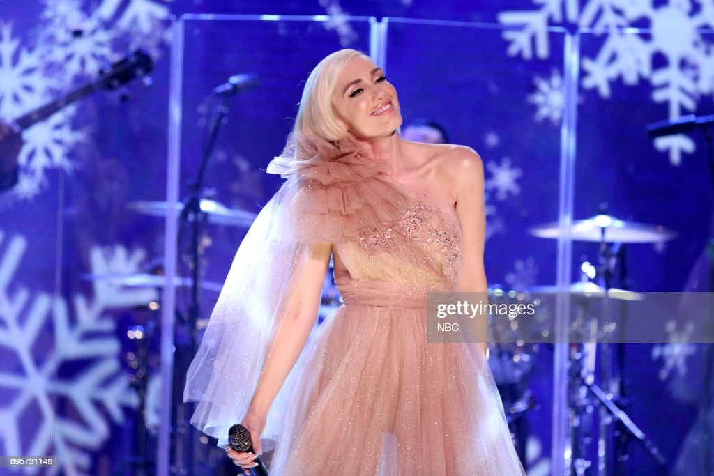 Musical Guest Gwen Stefani performs from her holiday album on December 19, 2017 --