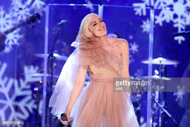 Musical Guest Gwen Stefani performs from her holiday album on December 19 2017