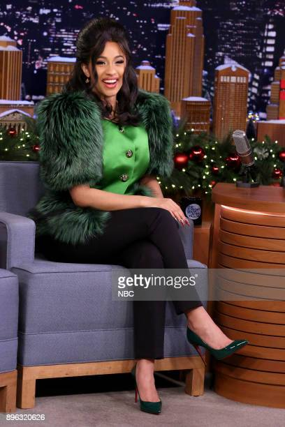 Hip Hop Artist Cardi B during an interview on December 20 2017