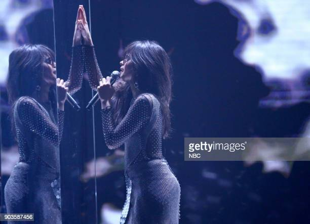 Musical Guest Camila Cabello performs 'Never Be The Same' on January 10 2018