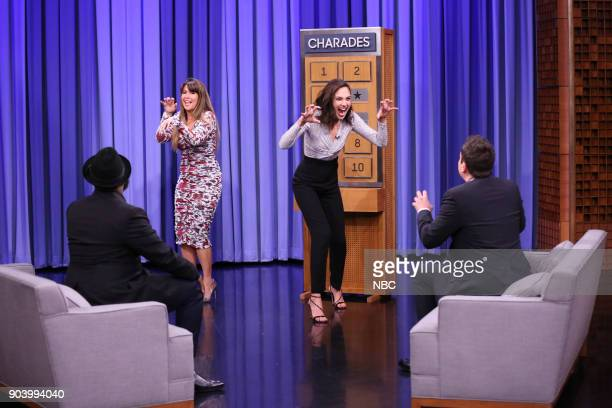 Director Patty Jenkins with Actress Gal Gadot playing 'Charades' on January 11 2018