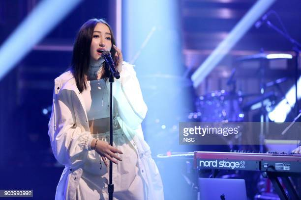 Musical Guest Alan Walker ft Noah Cyrus performs All Falls Down on January 11 2018