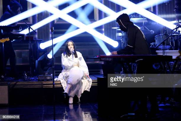 Musical Guest Alan Walker ft Noah Cyrus performs 'All Falls Down' on January 11 2018