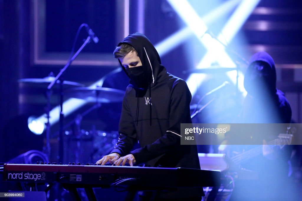 Musical Guest Alan Walker ft. Noah Cyrus performs 'All Falls Down' on January 11, 2018 --