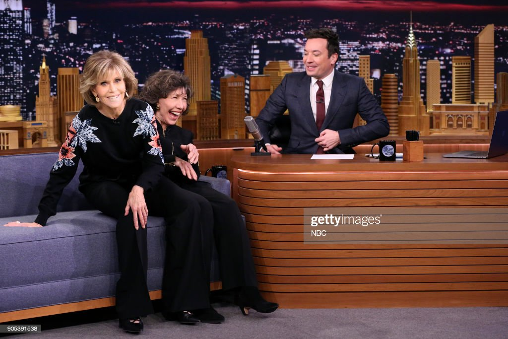 "NBC's ""Tonight Show Starring Jimmy Fallon"" with guests Lily Tomlin & Jane Fonda, Cole Sprouse, Walk the Moon"