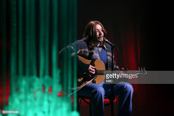 Jimmy Fallon as James Taylor performs 'Fire and Fury' on January 15 2018