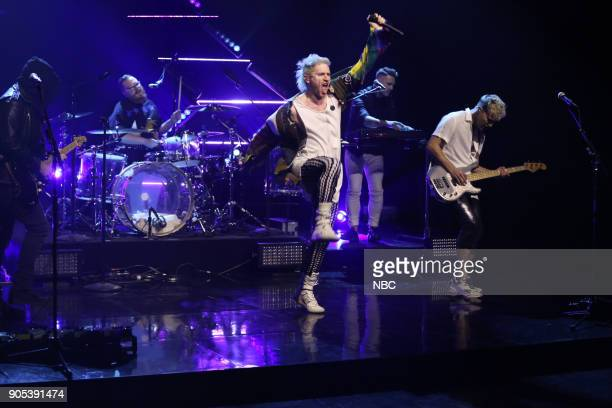 Musical Guest Walk The Moon performs 'One Foot' on January 15 2018