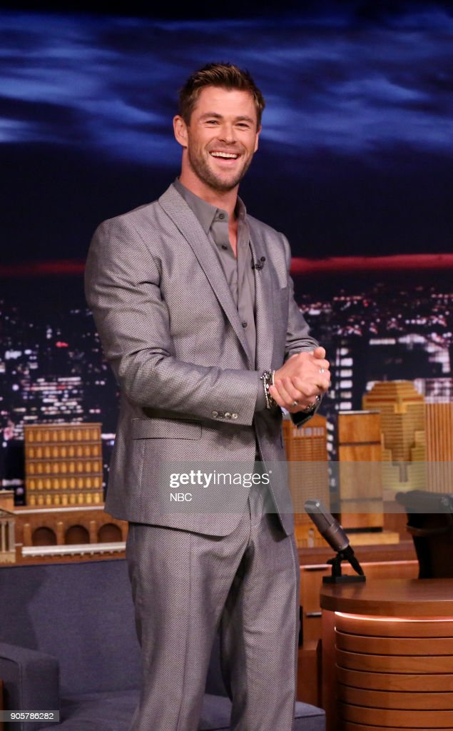 "NBC's ""Tonight Show Starring Jimmy Fallon"" with guests Chris Hemsworth, Carrie Brownstein, Caitlyn Smith"