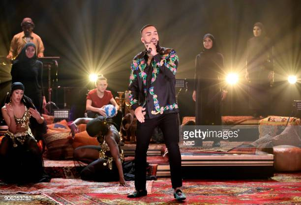 Musical Guest French Montana performs Famous on January 17 2018