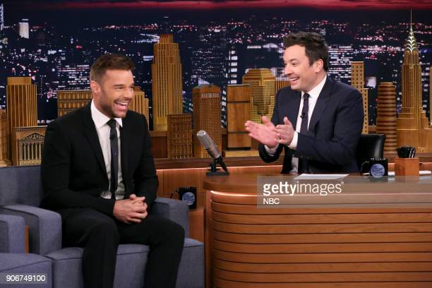 Actor/Singer Ricky Martin during an interview with host Jimmy Fallon on January 18 2018