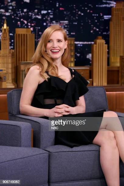 Actress Jessica Chastain during an interview on January 18 2018