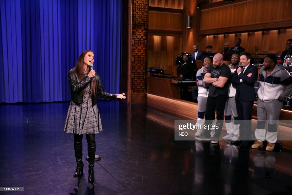 """NBC's """"Tonight Show Starring Jimmy Fallon"""" with guests Jessica Chastain, Ricky Martin, Franz Ferdinand"""