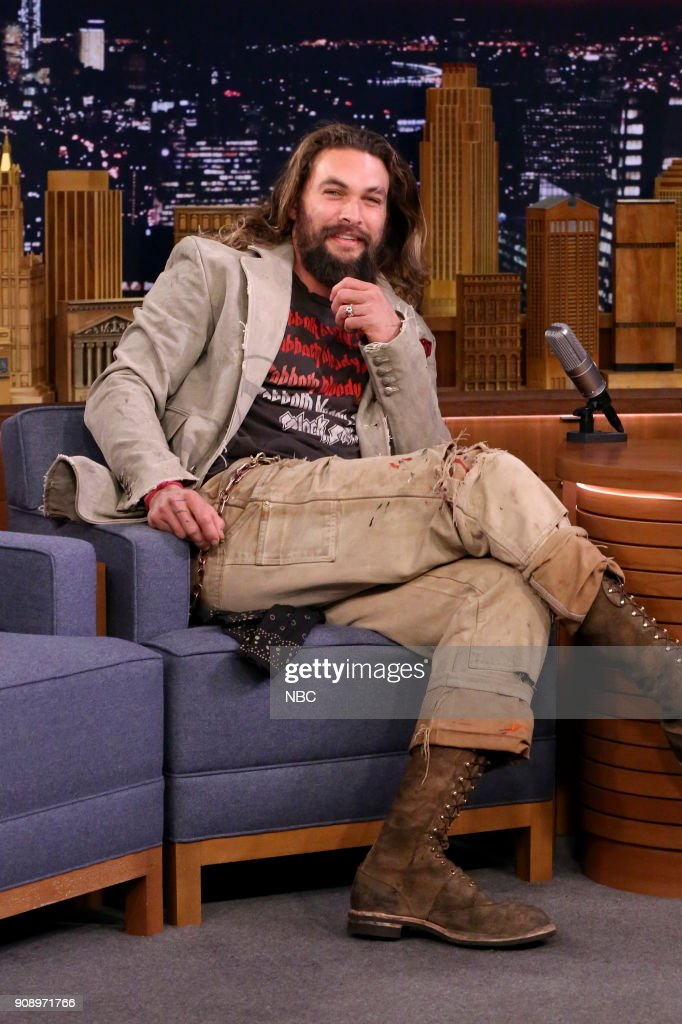 "NBC's ""Tonight Show Starring Jimmy Fallon"" with guests Greg Kinnear, Jason Momoa, The War on Drugs"