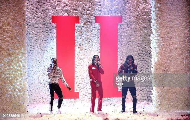 Offset Quavos and Takeoff of Migos perform Stir Fry on January 25 2018