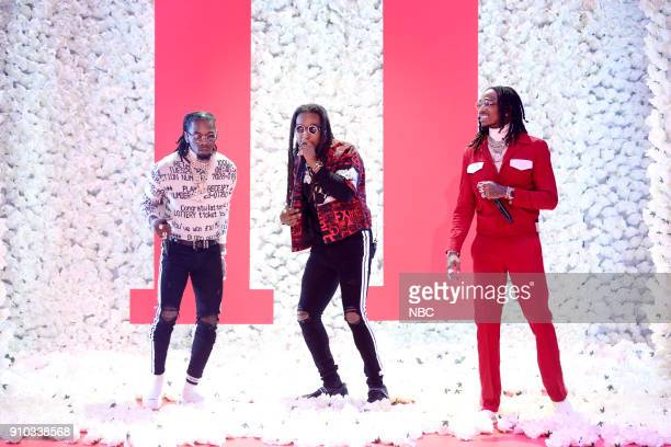 Offset Takeoff and Quavos of Migos perform Stir Fry on January 25 2018