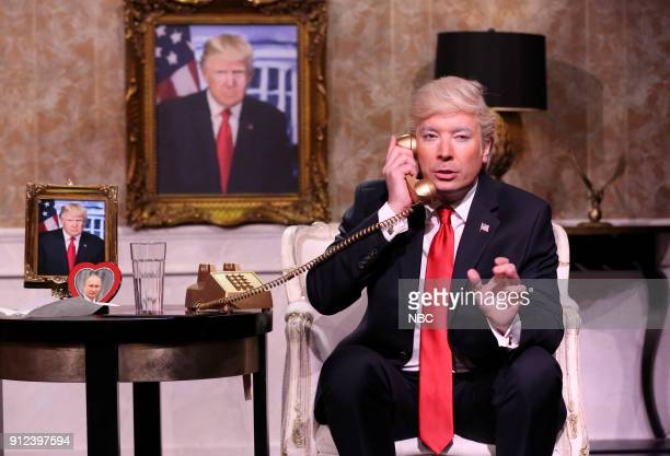 Jimmy Fallon as President Donald J Trump during Trump Calls People For Advice on January 30 2018