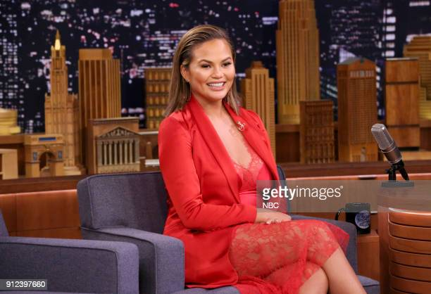 Model/Actress Chrissy Teigen during an interview on January 30 2018