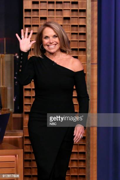 Katie Couric arrives for an interview on January 31 2018