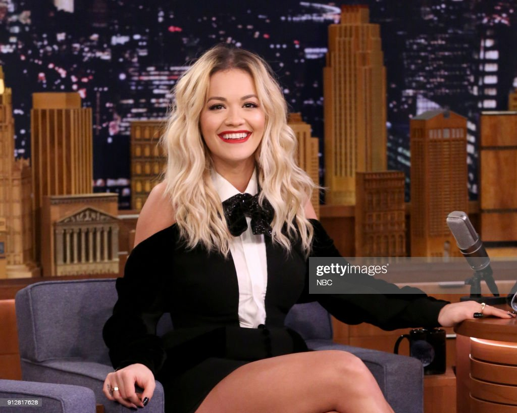 Singer/Actress Rita Ora during an interview on January 31, 2018 --