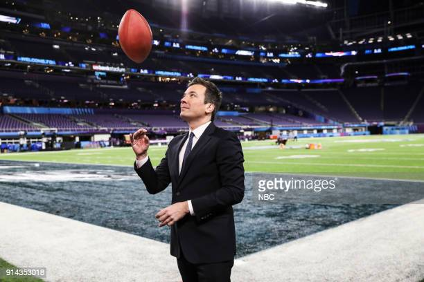 Host Jimmy Fallon during Tonight Show Opening at the US Bank Stadium in Minneapolis MN